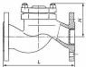 Обратный клапан 16кч6п  фланцевый (чугунный)