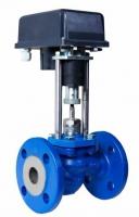 Клапан двухходовой регулирующий ВКСР с электроприводом