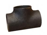 Тройник стальной прямой черный